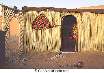 沙丘, 營房, 摩洛哥, 沙子, 爾格, chebbi, 黎明, 旅游者, 帳篷