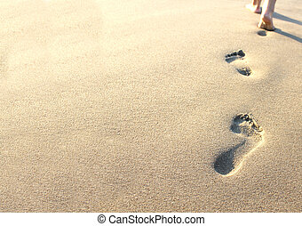 沙子, 人類, 足跡
