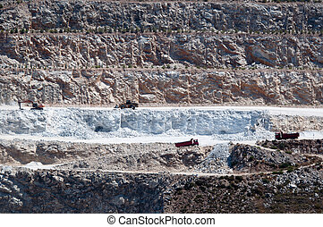 沙岩, 采石場