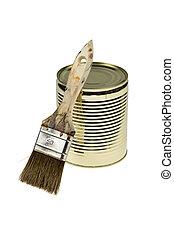 油漆 罐頭, 刷子