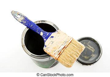 油漆 罐頭, 畫筆