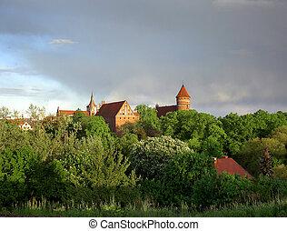波蘭, 老, 城堡, olsztyn