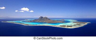 波里尼西亞, day., 上面, 看法, 充分, 蜜月, 瀕海湖, 無云, 目的地, bora, 全盛時期, 法語