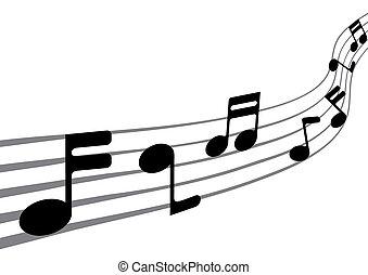 注釋, 音樂, (vector)