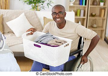 洗衣房, 輪椅, 無能力人