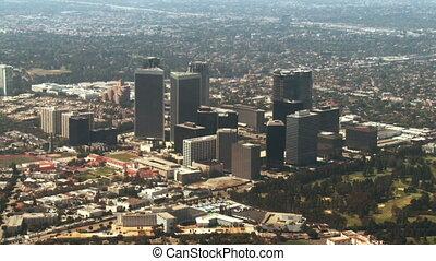 洛杉磯, californi, 空中, 西方