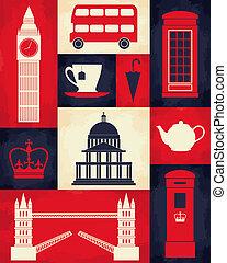 海報, 倫敦, retro