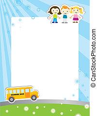 海報, 學校, 樣板, 背景