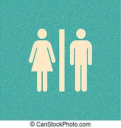 海報, retro, restroom