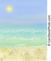 海灘假期, 背景