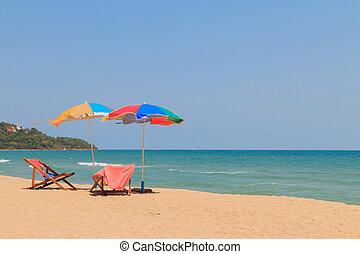 海灘椅子, 傘