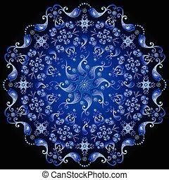 深藍, 環繞, 植物的模式