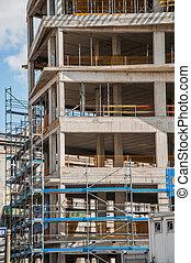 混凝土, 站點, 建設, 大廈