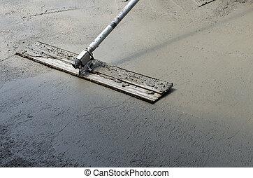 混凝土, 精整, 地板