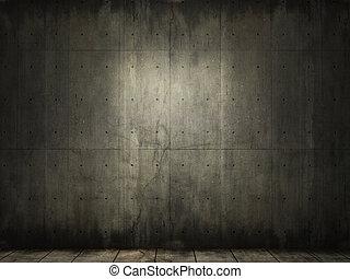 混凝土, grunge, 房間, 背景