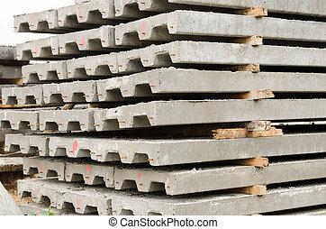 混凝土, slabs.