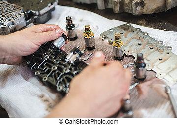 淺, 修理, 汽車, 自動, 部分, 傳輸, 領域, 深度