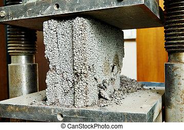 測試, 混凝土, 質量