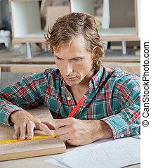 測量, 鉛筆, 木頭, 木匠, 統治者