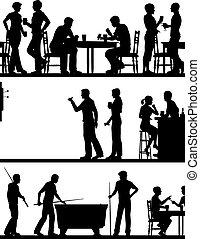 游戲, 黑色半面畫像, pub