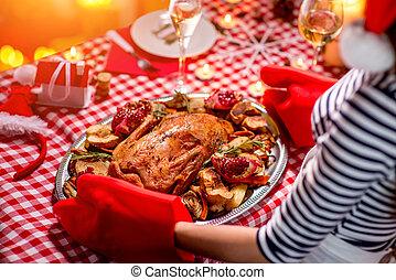 準備, 婦女, 圣誕節晚飯