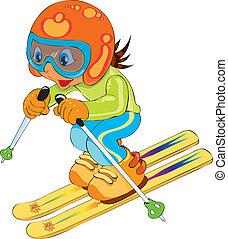 滑雪, 孩子