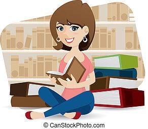 漂亮, 圖書館書, 女孩讀物, 卡通