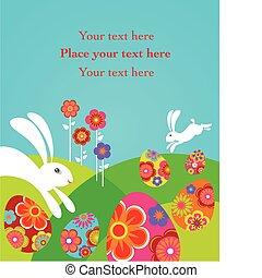 漂亮, 復活節, 卡片