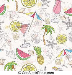 漂亮, 摘要, pattern., 夏天