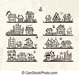 漂亮, 略述, 架子, 房子, 設計, 你