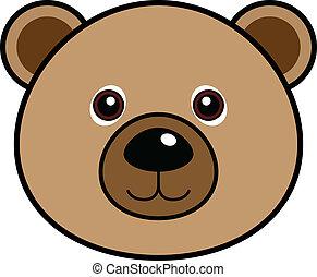 漂亮, 矢量, 熊