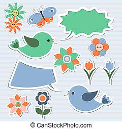 演說, 氣泡, 鳥