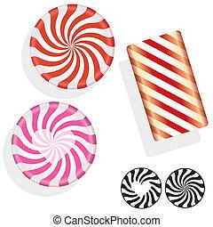漩渦, 糖果, 努力, 輪, 插圖