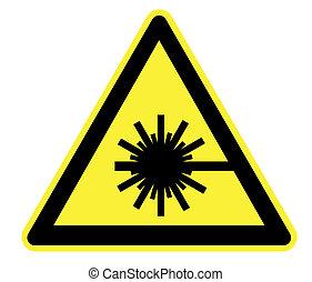 激光, 警告, 輻射, 黃色