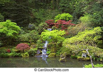 瀑布, 日語