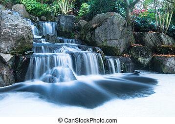 瀑布, 東方, 風景