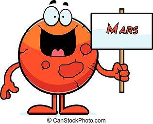 火星, 卡通, 簽署