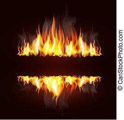 火焰, 背景, 燃燒