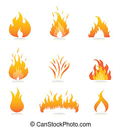 火, 火焰, 簽署