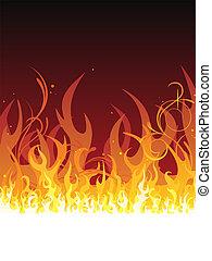 火, -, 火焰