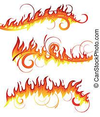 火, 矢量, 元素