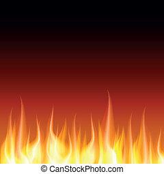 火, 矢量, 燒傷, 火焰, 背景