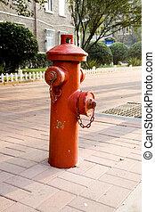 火, 路旁, 消防栓