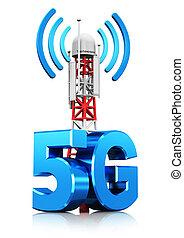 無線電通訊, 5g, 概念, 技術