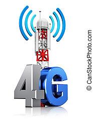 無線, 4g, 概念, 通訊