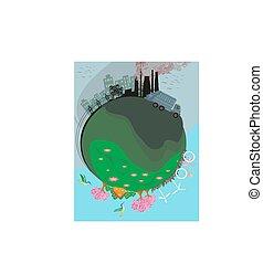 煙囪, 空氣, 工廠, 污染