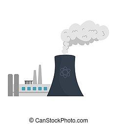 煙囪, 設計, 工廠, 矢量, 煙