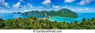 熱帶, 全景, 島