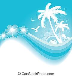 熱帶, 藍色的背景