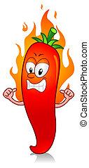 熱的紅辣椒